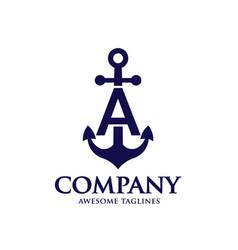 Anchor letter a vector