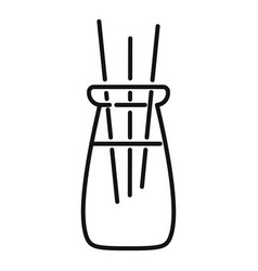 Ayurveda smell sticks icon outline style vector
