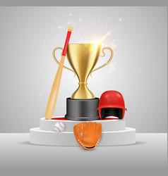Baseball sport game championship winner trophy vector