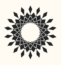 black abstract circle frame vector image