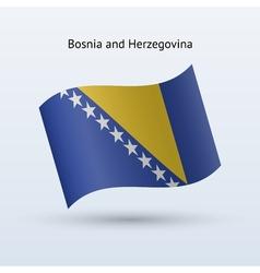 Bosnia and Herzegovina flag waving form vector image