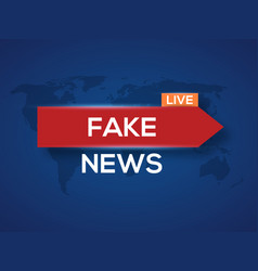 Breaking news world news with map backgorund vector
