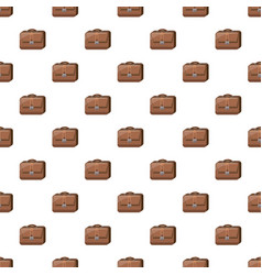 Brown business briefcase pattern vector