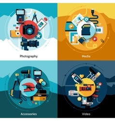 Camera Design Set vector