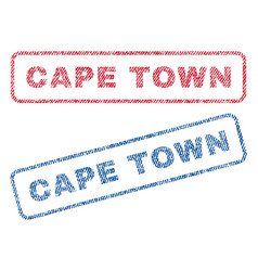 Cape town textile stamps vector