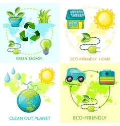 Cartoon Ecology Concept vector