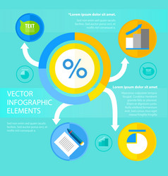 circle diagram flat infographic template vector image