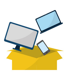 cloud computing and devices vector image