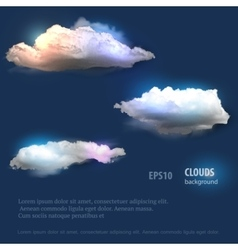 Cloud set for your design vector image