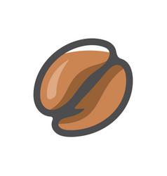 coffee natural bean icon cartoon vector image