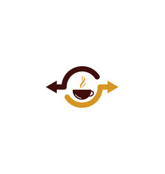 coffee share logo icon design vector image