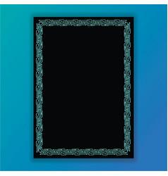 creative concept meta blue and black scheme vector image