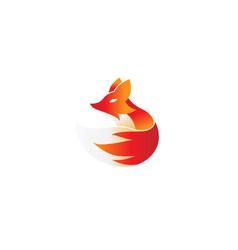 creative fox logo vector image