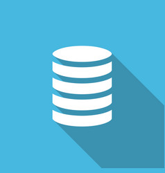database business solid flat icon vector image