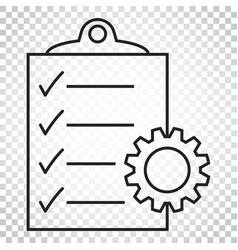 Document icon project management flat simple vector