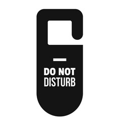 Dont disturb tag icon simple style vector
