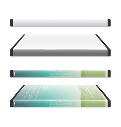 dvd box - spine view vector image