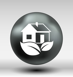 ECO house icon button logo symbol concept vector