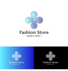elegant looped logo Blue and violet vector image