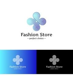 Elegant looped logo Blue and violet vector