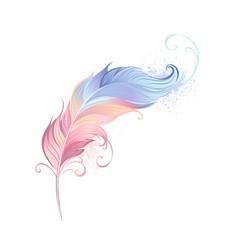 Elegant powder feather vector