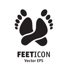 Feet icon logo symbol rest lie vector
