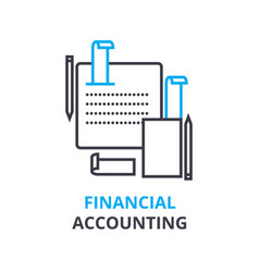 financial accounting concept outline icon vector image
