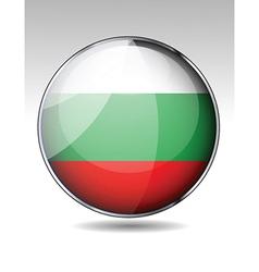 Flag button design elements vector