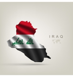 flag iraq as a country vector image