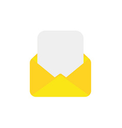 flat design style concept of open envelope with vector image