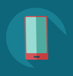 Flat modern design with shadow icons mobile phone vector