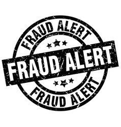 Fraud alert round grunge black stamp vector