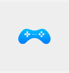 Gamepad controller logo template icon element vector