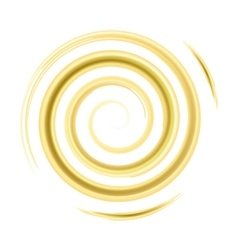 Golden watercolor spiral vector