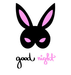 Good night happy bunny bdsm mask venetian woman vector