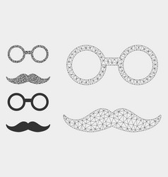 Grandfather smiley mesh wire frame model vector