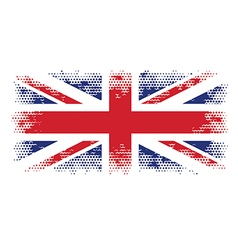 great britain flag halftone vector image