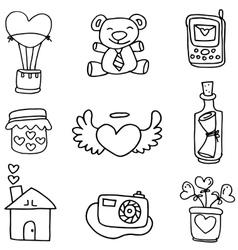 Hand draw love doodles vector