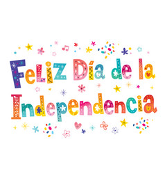 Happy independence day in spanish vector