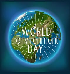 Happy world environment day card vector