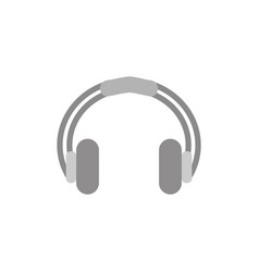 headphones icon in flat style isolated vector image