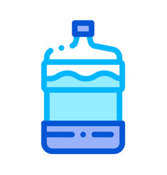 healthy water bottle sign thin line icon vector image