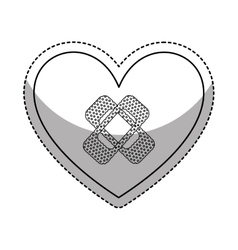 Heart with cure band icon vector