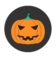 Helloween pumpkin icon vector image