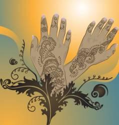 Henna designs vector