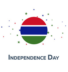 independence day of gambia patriotic banner vector image