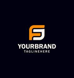 initial fs or sf letter logo design vector image