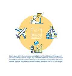 International traveling concept icon with text vector
