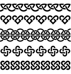 irish celtic knots braids seamless pattern vector image