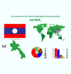 Lao pdr all countries of the world infographics vector
